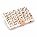 Chloe Portfolio Jewellery Case in Cream Leather