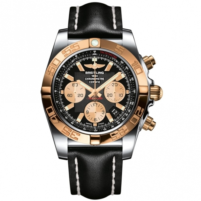 Chronomat 44 Steel and Rose Gold Chronograph with In-House Movement
