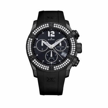 Class 1 Limited Edition Chronograph Ladies quartz watch in Black with Diamonds - 10403 37ND NIN