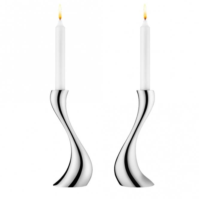 Cobra Stainless Steel Candleholder Set - Medium