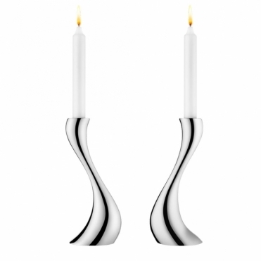 Cobra Stainless Steel Candleholder Set - Medium