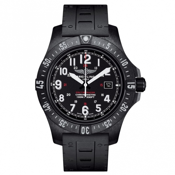"Colt Skyracer Superquartz Watch 45mm case in black ""Breitlight"""