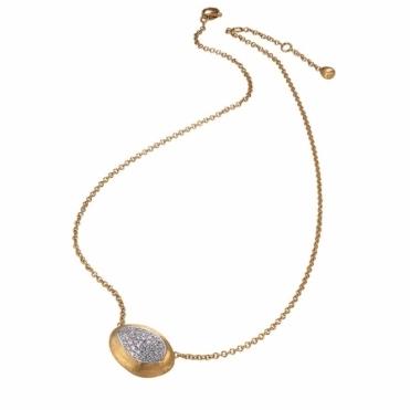 Confetti Isola 18ct Yellow Gold Diamond Pave Pendant