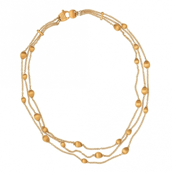 Confetti Oro 18ct Yellow Gold Bead Necklace