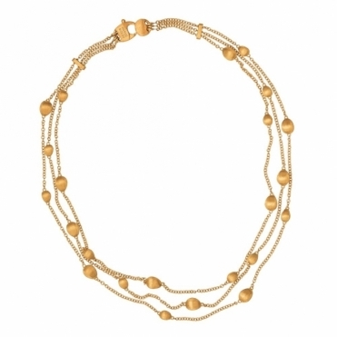 Confetti Oro 18ct Yellow Gold Bead Necklace