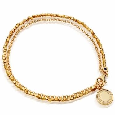 Cosmos Biography Gold Bracelet