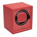 Cub Single Watch Winder in Coral Pebble Faux Leather
