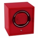 Cub Single Watch Winder in Red Lacquer