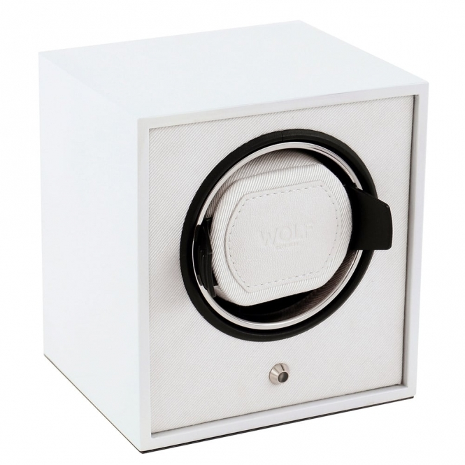 Cub Single Watch Winder in White Lacquer