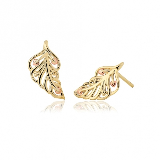 Debutante Gold Stud Earrings