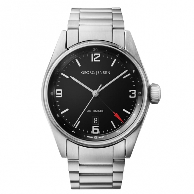 Delta  S42-ST72 Automatic 42mm Watch with Black Dial
