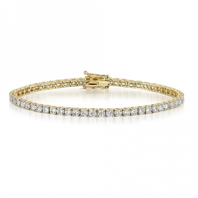 Diamond Line Bracelet in 18 Yellow Gold