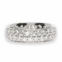 Double row diamond band ring