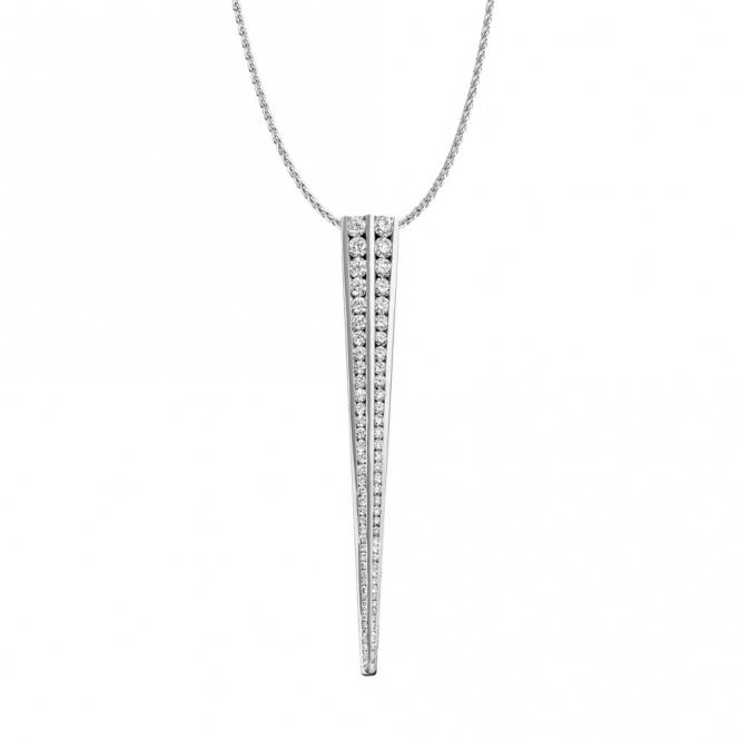 Double Row Graduated Diamond Pendant