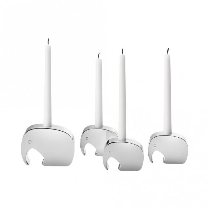 Elephant Candleholder Set
