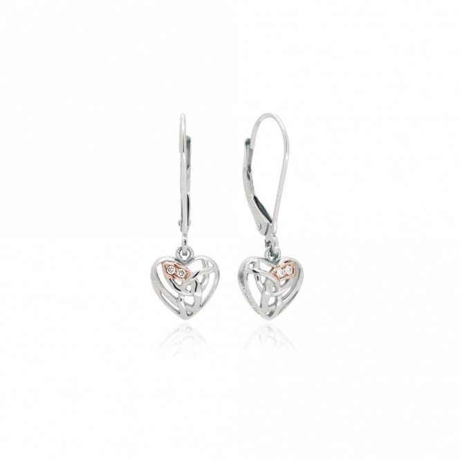 Eternal Love Silver Drop Earrings