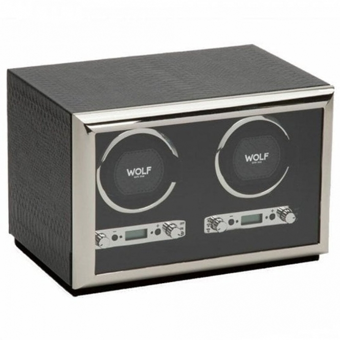 Exotic Double Watch Winder in Black