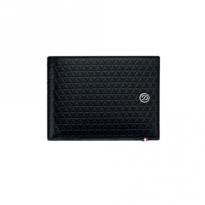 Firehead 6 Leather Wallet in Deep Black with concealed RFID protection technology