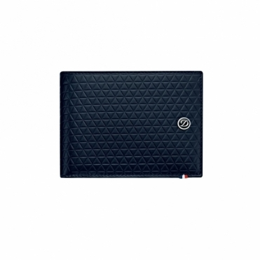 Firehead 6 Leather Wallet in Midnight Blue with RFID protection technology