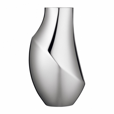 Flora Polished Stainless Steel Vase