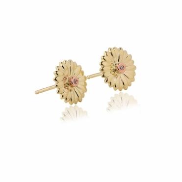 Flower Diamond Petals Stud Earrings