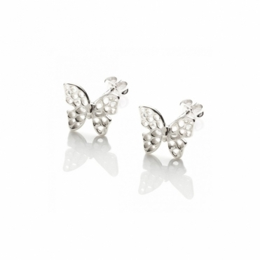 Flutterby Sterling Silver Stud Earrings