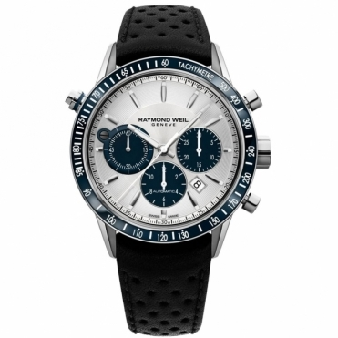 Freelancer Automatic Chronograph 43.5mm with Silver and Blue Dial