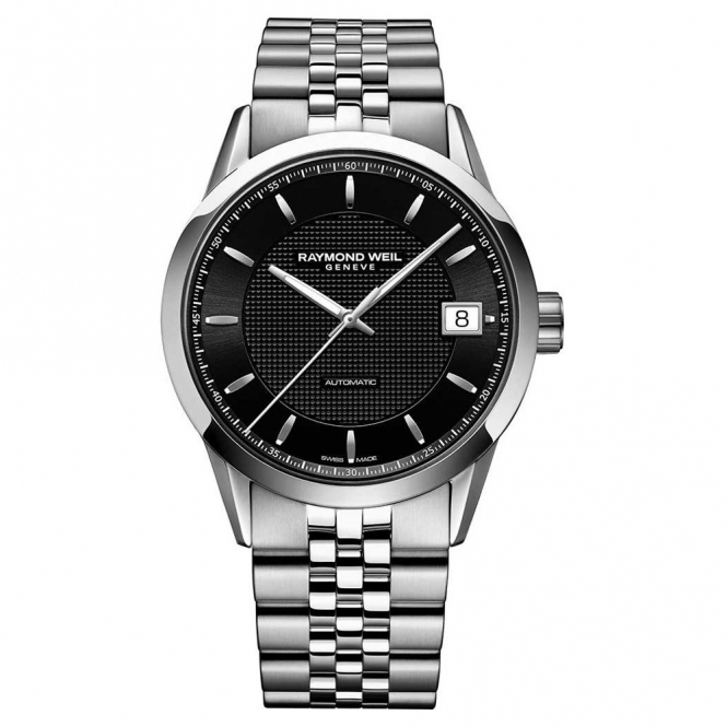 Freelancer Automatic Gents Watch in Steel with Black Dial and Sapphire Crystal Case-Back