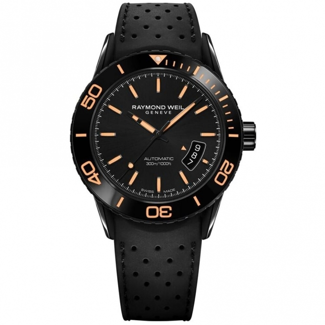 Freelancer Gents Black/Orange Automatic Diver's Watch
