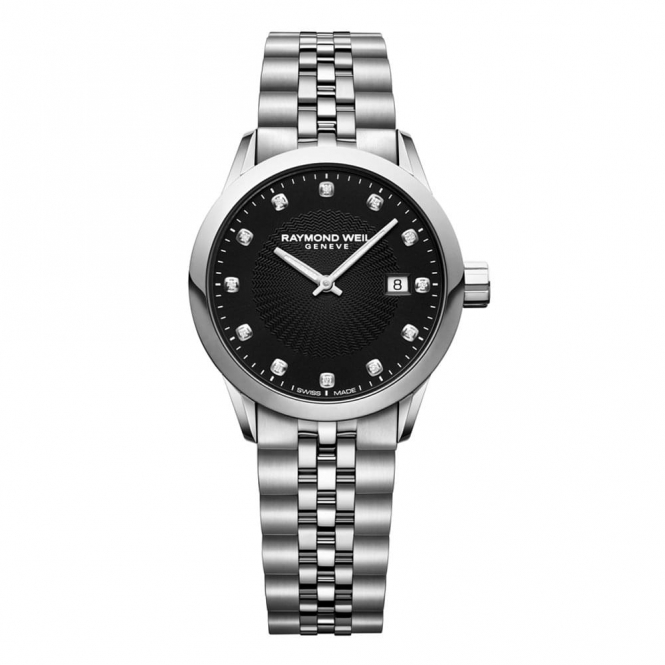 Freelancer Ladies 29mm Quartz watch with Black dial and Diamonds