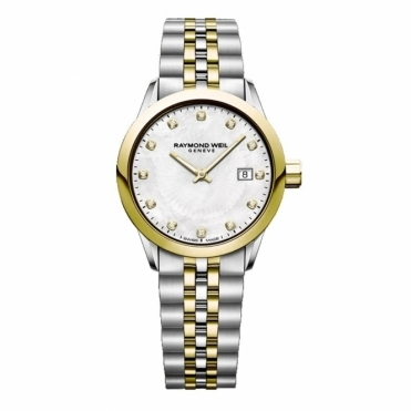Freelancer Steel and Gold PVD Ladies 26mm Quartz Watch
