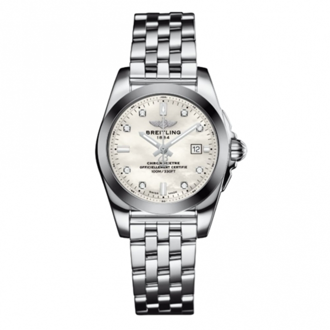 Galactic 29 SleekT Ladies Quartz Watch with Mother-of-Pearl dial with 8 diamond hour markers