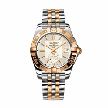 Galactic 36 Ladies Automatic Watch in Steel and 18ct Rose Gold