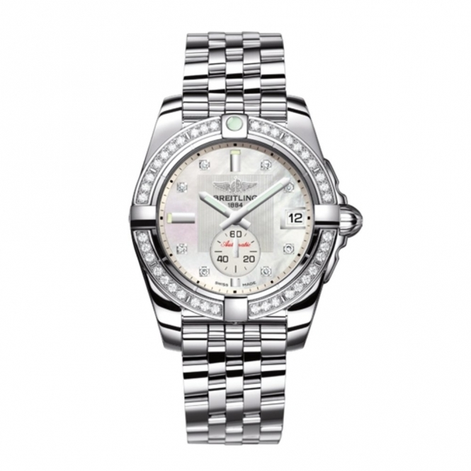 Galactic 36mm Ladies automatic bracelet watch with diamond hours and diamond bezel- A3733053