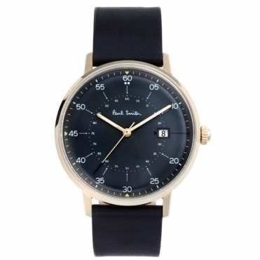 Gauge PVD Gold Watch with Black Dial and Gold Hands. 41mm