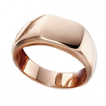 Gents Rose Cushion Signet Ring