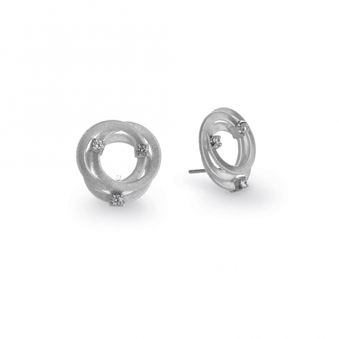 Goa 18ct White Gold Diamond Stud Earrings