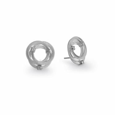 Goa 18ct White Gold Diamond Stud Earrings