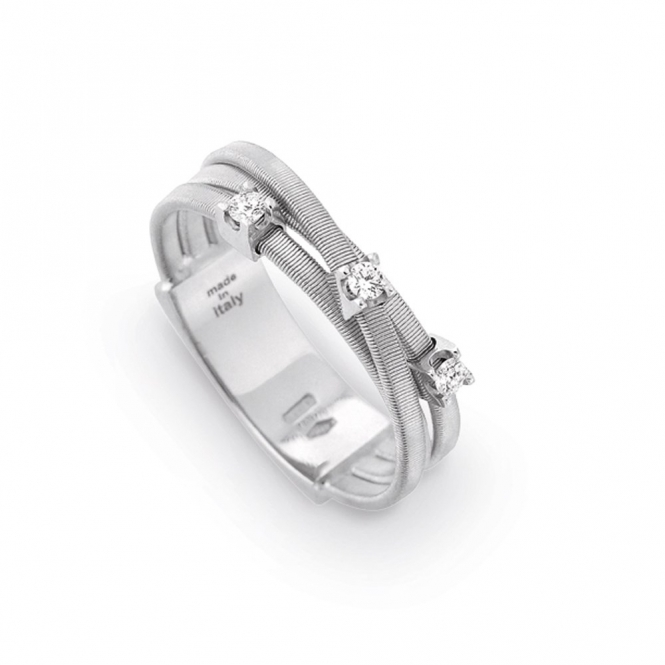 Goa 18ct White Gold Multi Diamond Ring