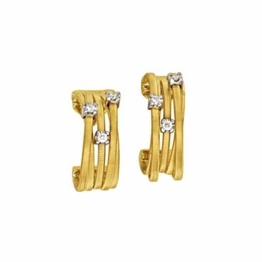 Goa 18ct Yellow Gold Diamond Hoop Earrings