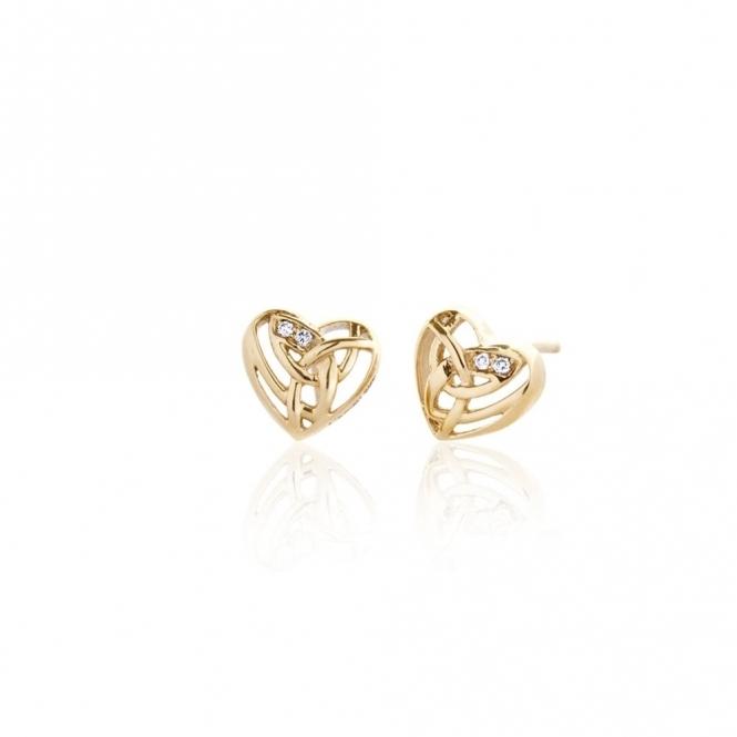 Gold & Diamond Eternal Love Stud Earrings