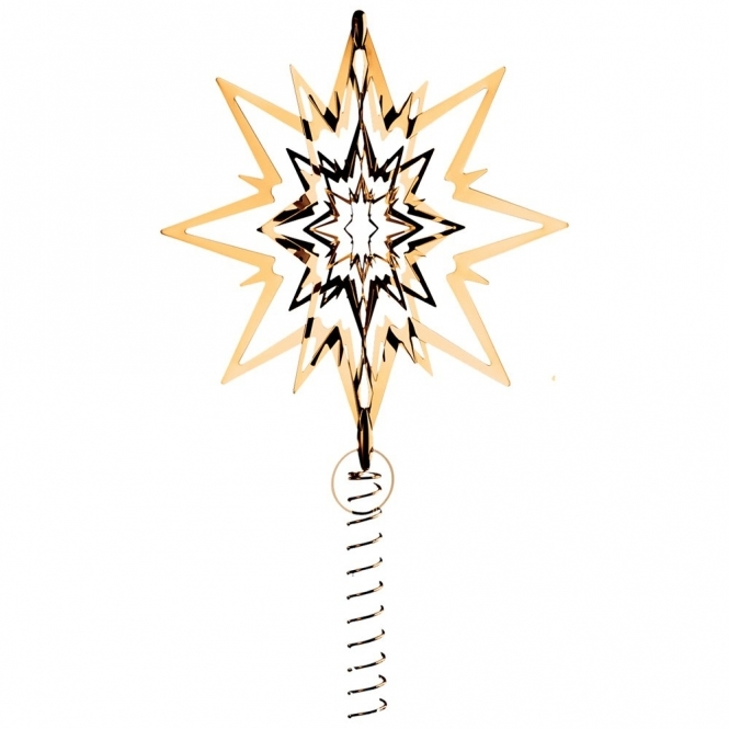 Gold Plated Star Topper for Christmas Tree - Medium