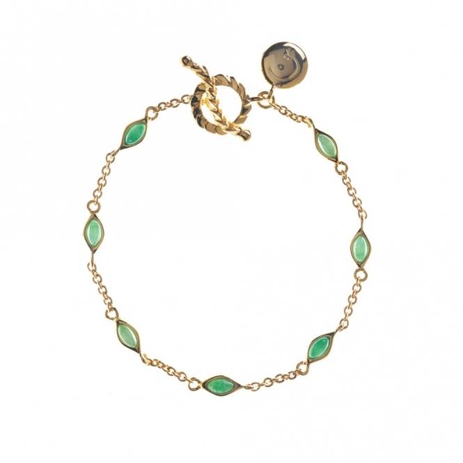 Gold Plated Sterling Silver Jade Venom Bracelet