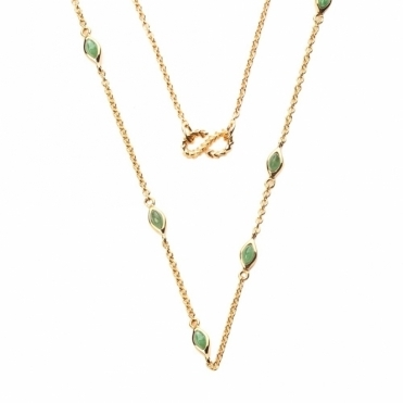 Gold Vermeil and Jade Venom Chain