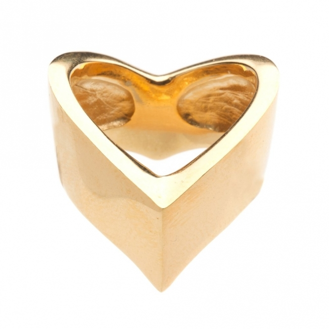 Gold Vermeil Venom Wide Wishbone Ring