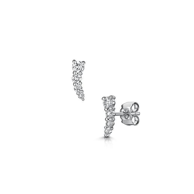 Graduated Diamond Stud Earrings
