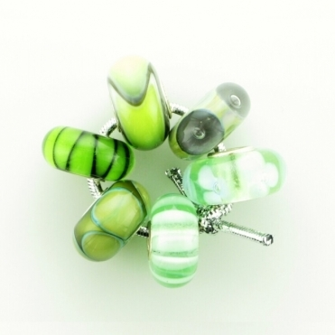 Group 1 Glass Bright Green Trollbeads Kit RRP £150