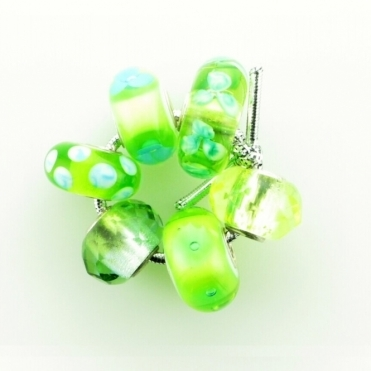 Group 1 Glass Lime Greens Trollbeads Kit RRP £150