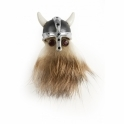 Hairy Viking Silver and Ruby Lapel Pin