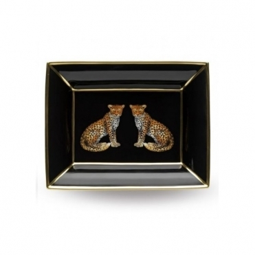 Halcyon Days Leopard Trinket Tray